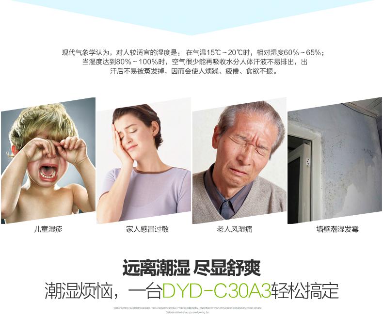 德业北京DYD-C30A3家用除湿机