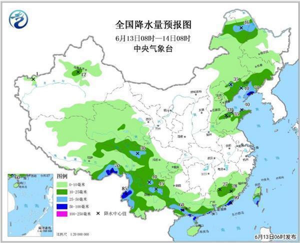 强对流天气蓝色预警:北京山东等7省有雷暴大风冰雹 南方大雨持续