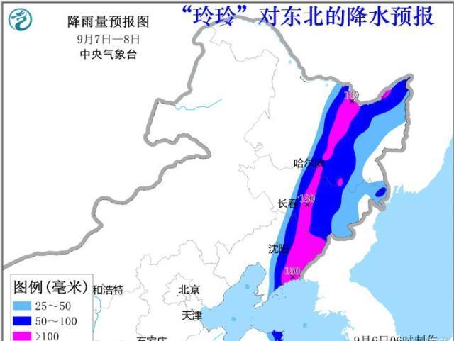 """台风""""玲玲""""呼啸北上疯狂洒水 东北的朋友们要注意啦"""